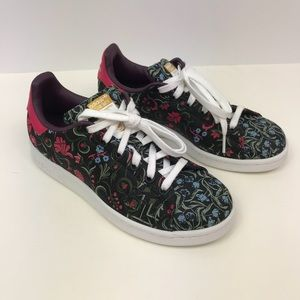 lowest price 9a764 9a078 adidas Shoes - Adidas Stan smith core black merlot floral RARE